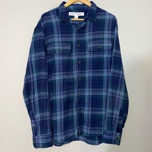 3 for $25 - Men's Old Navy Navy Blue Flannel Shirt Size XL